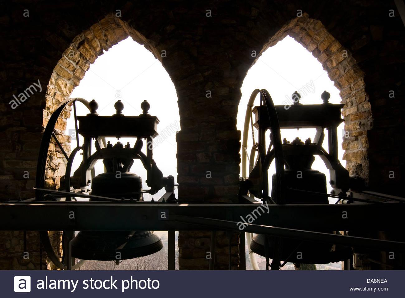 Ancienne Paroisse de San Giovanni Battista, Sotto il monte, Lombardie, Italie Banque D'Images