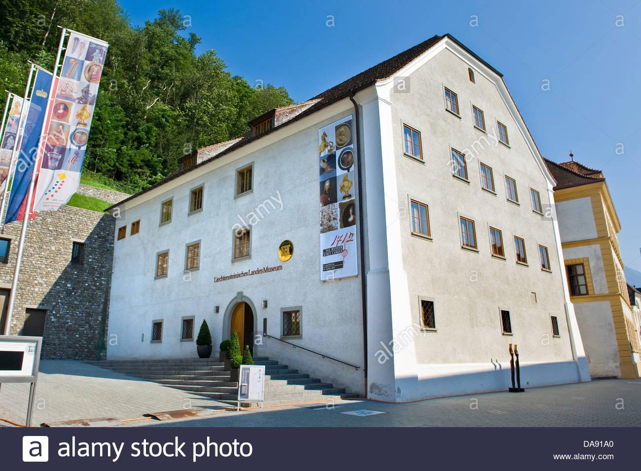 Liechtenstein, Vaduz,Liechtensteinisches Landes Museum Photo Stock