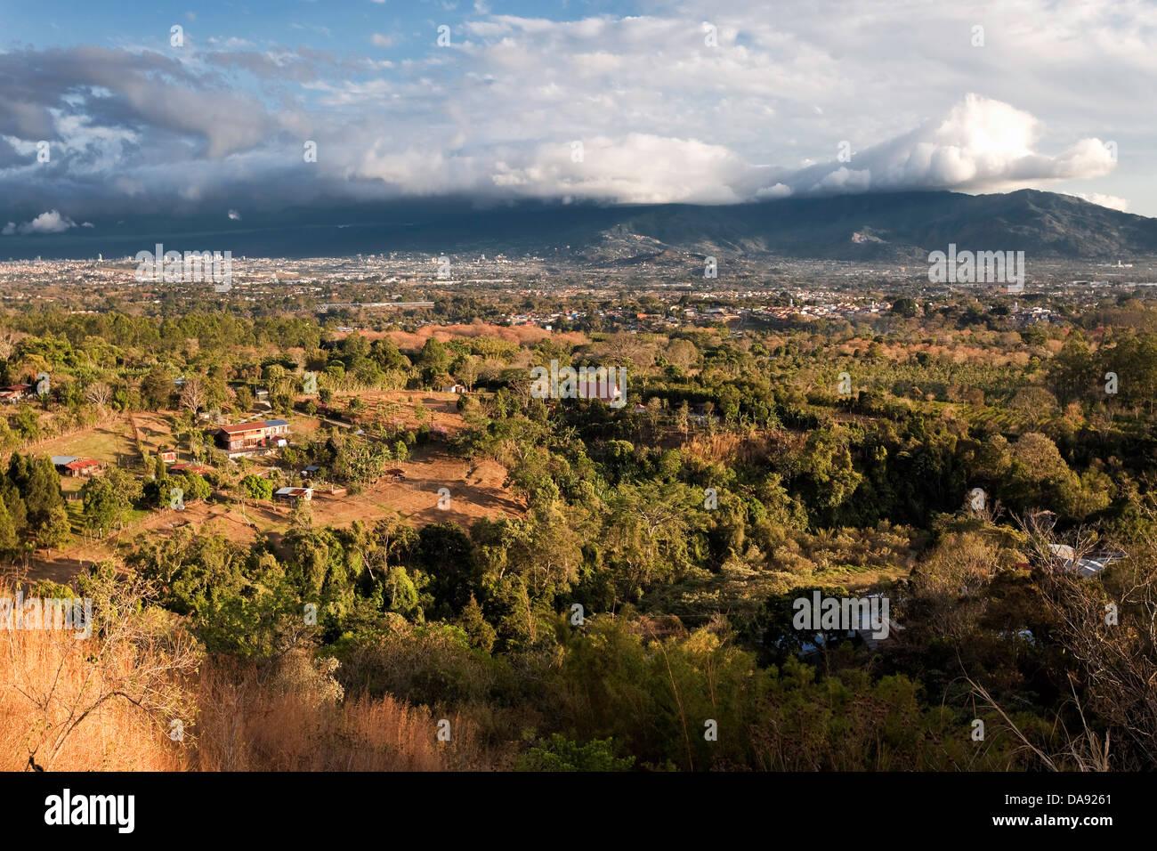 Vallée de San Jose, Costa Rica Photo Stock