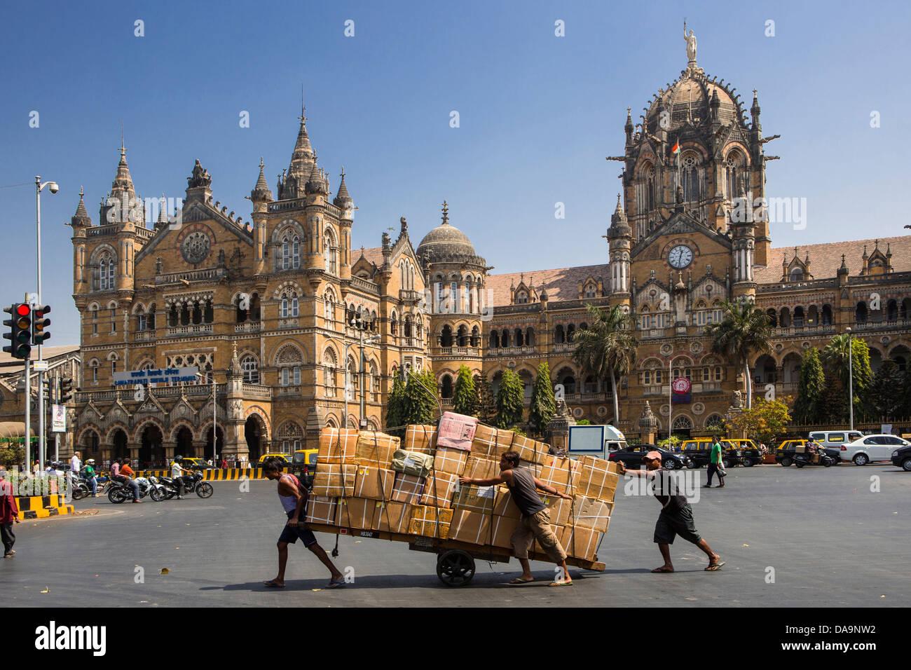 L'Inde, l'Inde, Asie, Maharashtra, Mumbai, Bombay, Ville, Dadabhai Naoroji, Road, Victoria Station, Termi, Photo Stock
