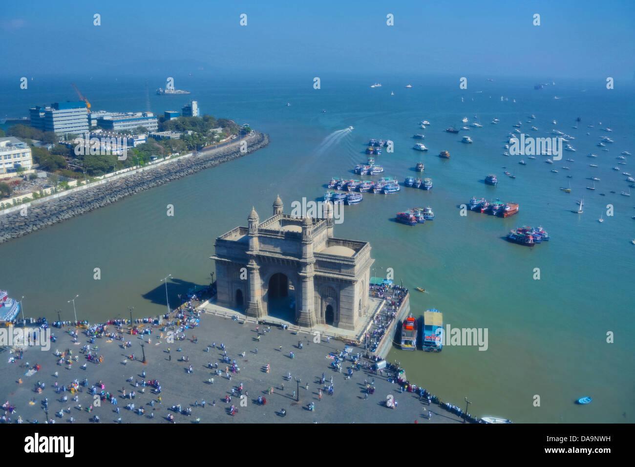 L'Inde, l'Inde, Asie, Maharashtra, Mumbai, Bombay, Ville, District, Colaba, porte de l'Inde, l'Inde Photo Stock