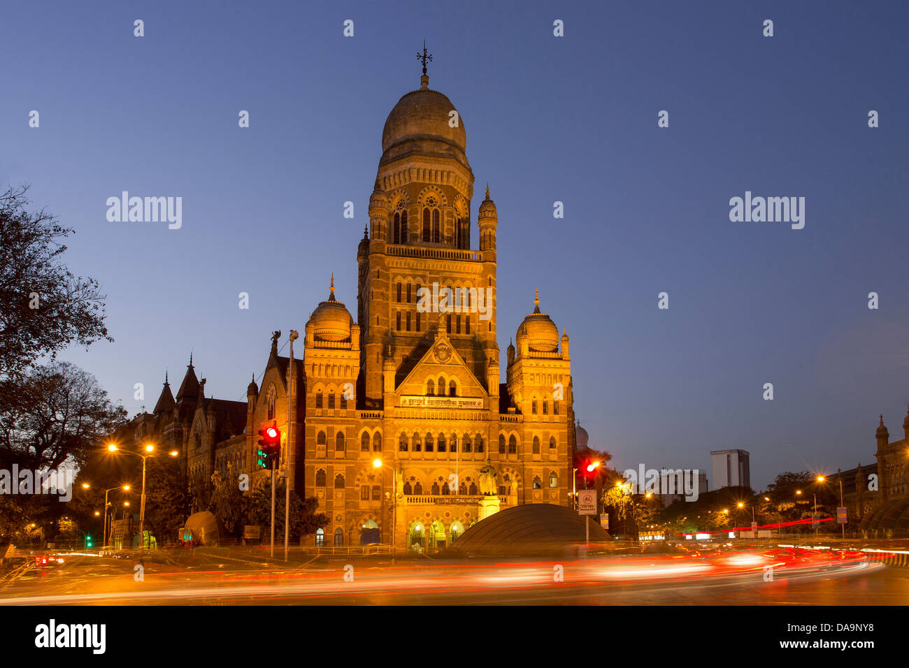 L'Inde, l'Inde, Asie, Maharashtra, Mumbai, Bombay, Ville, Dadabhai Naoroji Road, Corporation municipale, Photo Stock