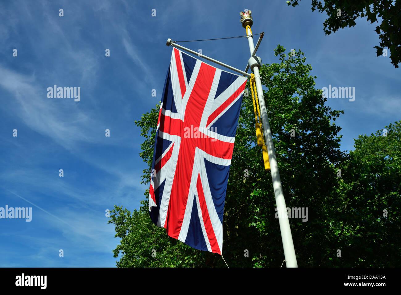 Union Jack,le Mall, Londres, Royaume-Uni Banque D'Images