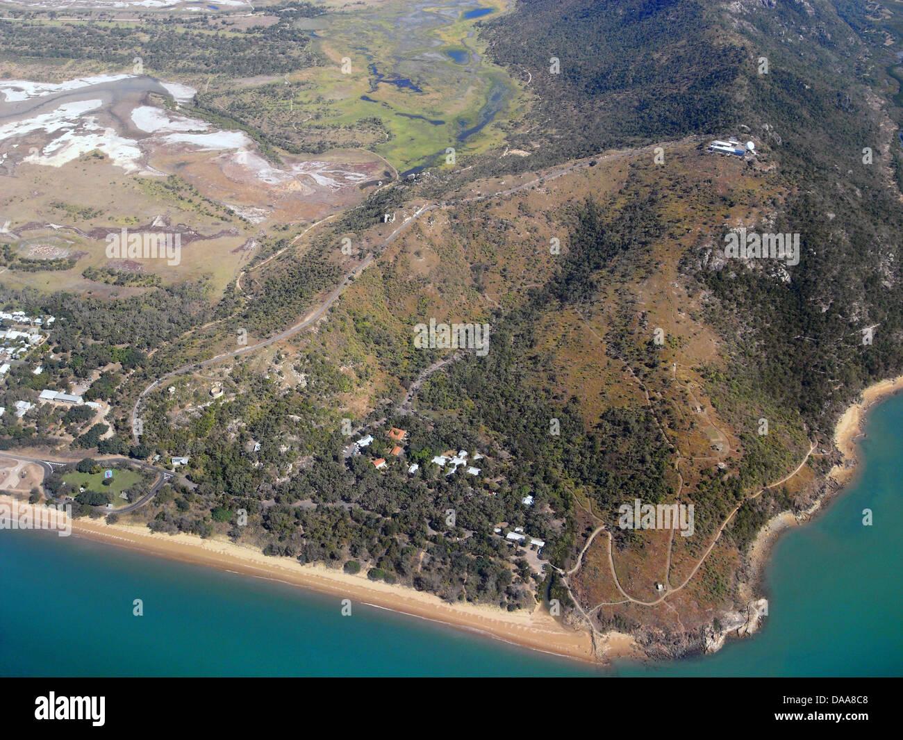 Vue aérienne de Cape Pallarenda, Townsville, Queensland, Australie Banque D'Images