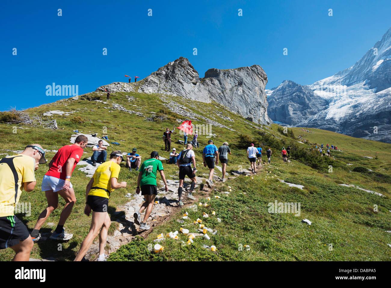 Marathon de la Jungfrau, dans l'Oberland Bernois, Suisse, Europe Photo Stock