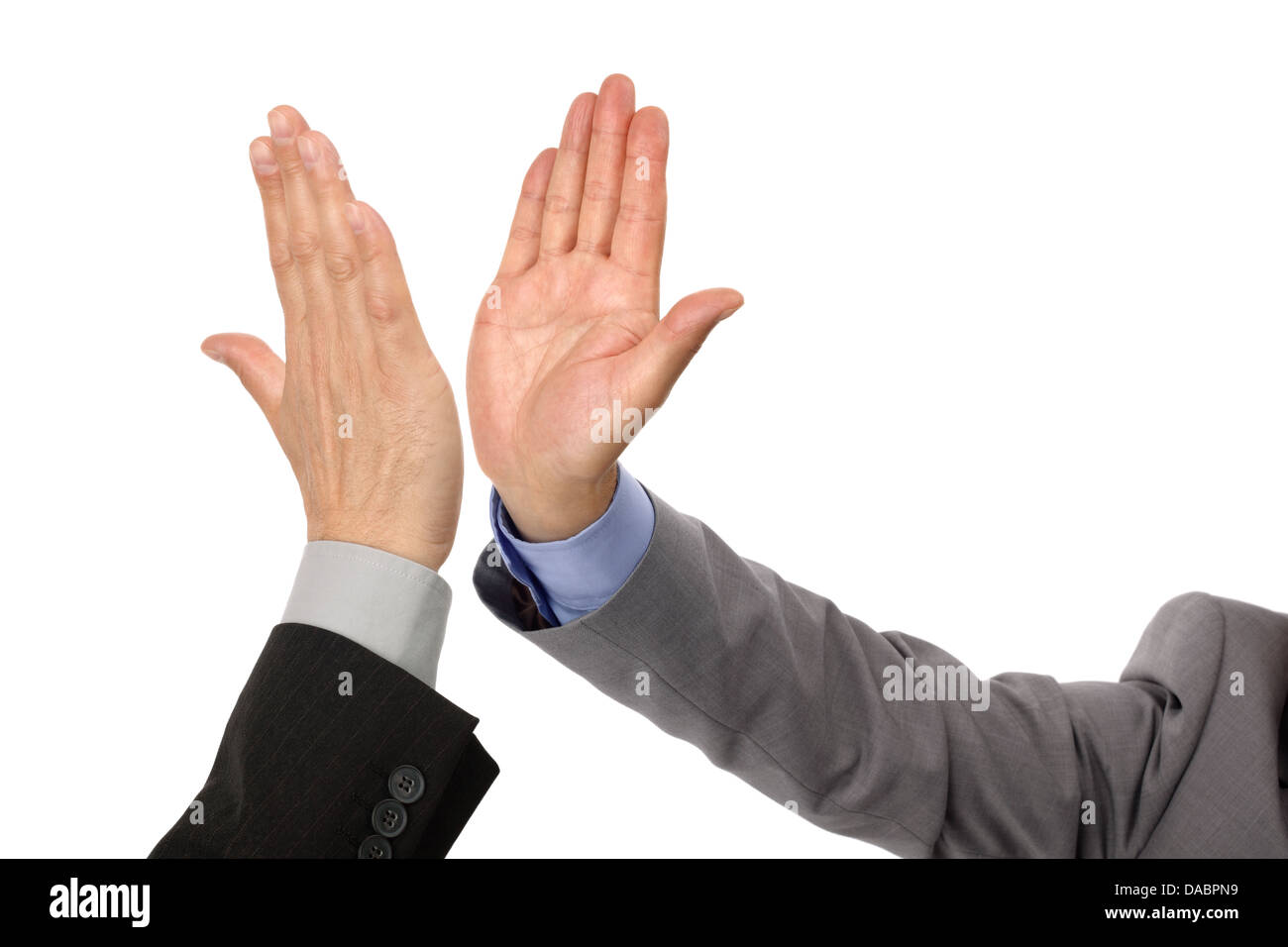 Succès High Five Photo Stock