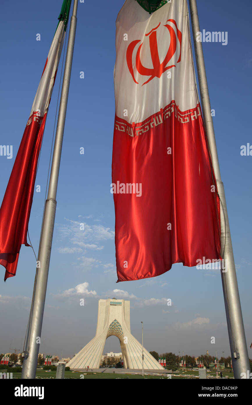 La tour Azadi, ou King Memorial Tower, Téhéran, Iran Photo Stock