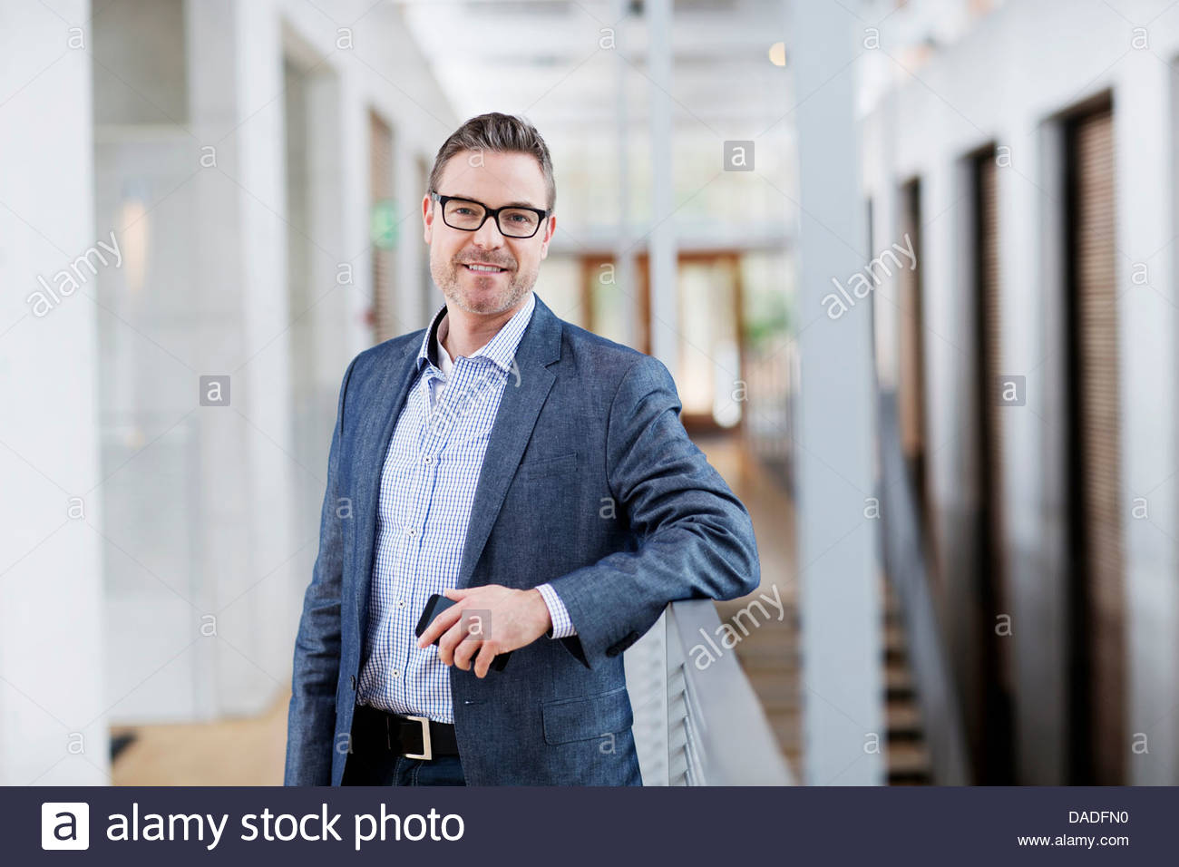 Man looking at camera Photo Stock