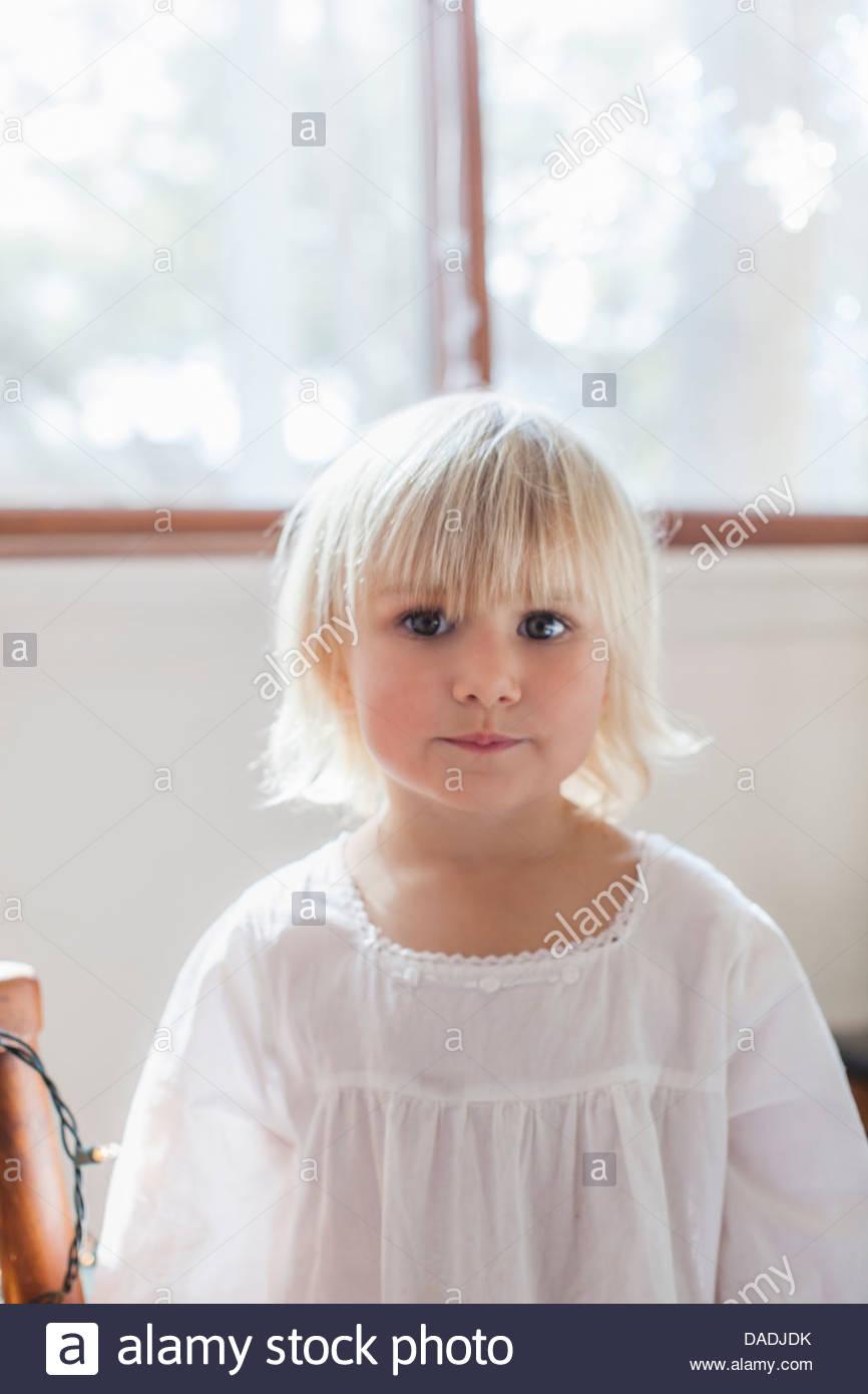 Girl looking at camera Photo Stock