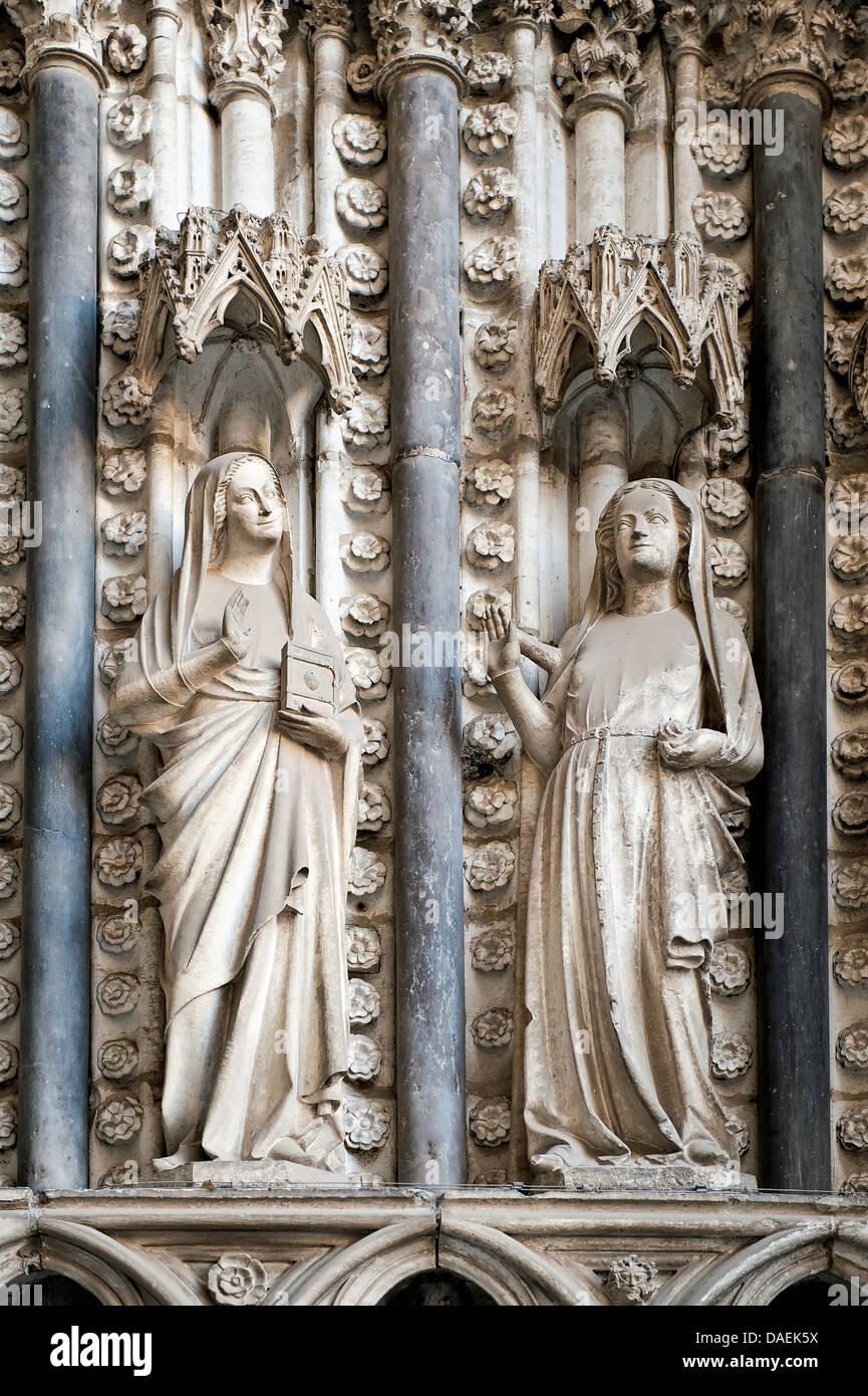 Détail de l'extérieur, sainte église cathédrale, Tolède, Espagne Photo Stock