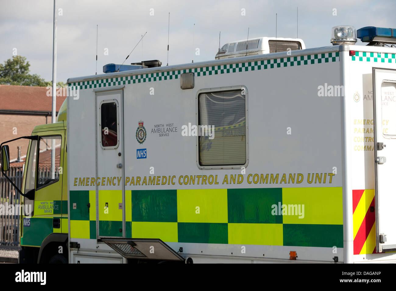 Contrôle et paramédicaux d'urgence de l'unité de commande Photo Stock