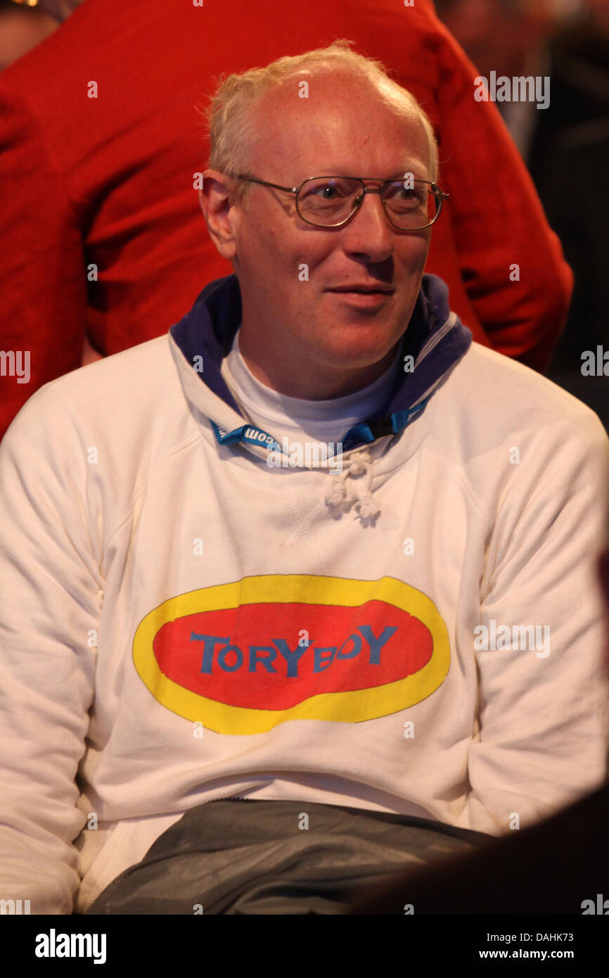 Garçon conservateur partisan conservateur d'âge moyen lors de la Conférence 2009 Les Conservateurs Photo Stock