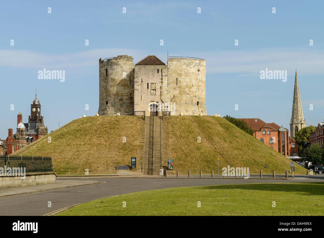 Cliffords Tower le centre-ville de York UK Photo Stock