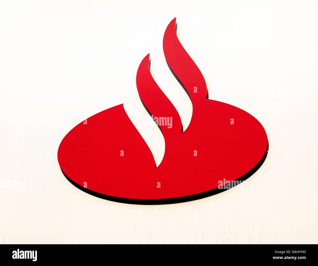 Logo de la Banque Santander, banques Photo Stock