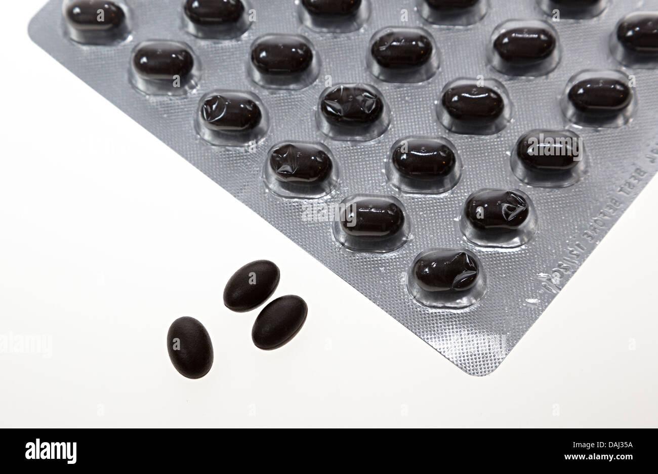 Co enzyme Q10 comprimés antioxydant Photo Stock