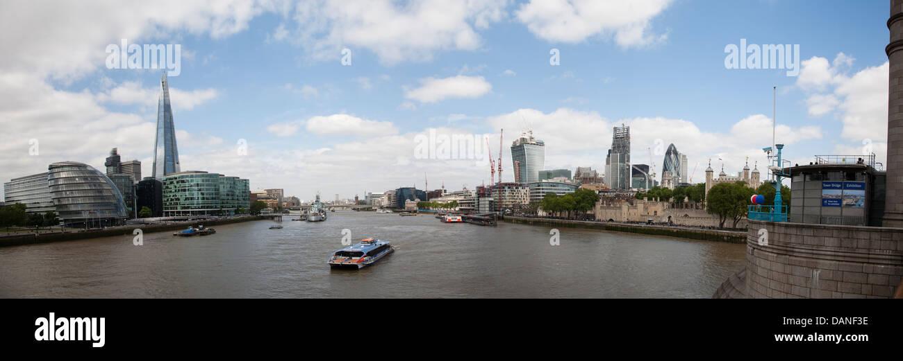 Ville de London, UK, Skyline, Vue Panoramique Composition de 6 coups Photo Stock