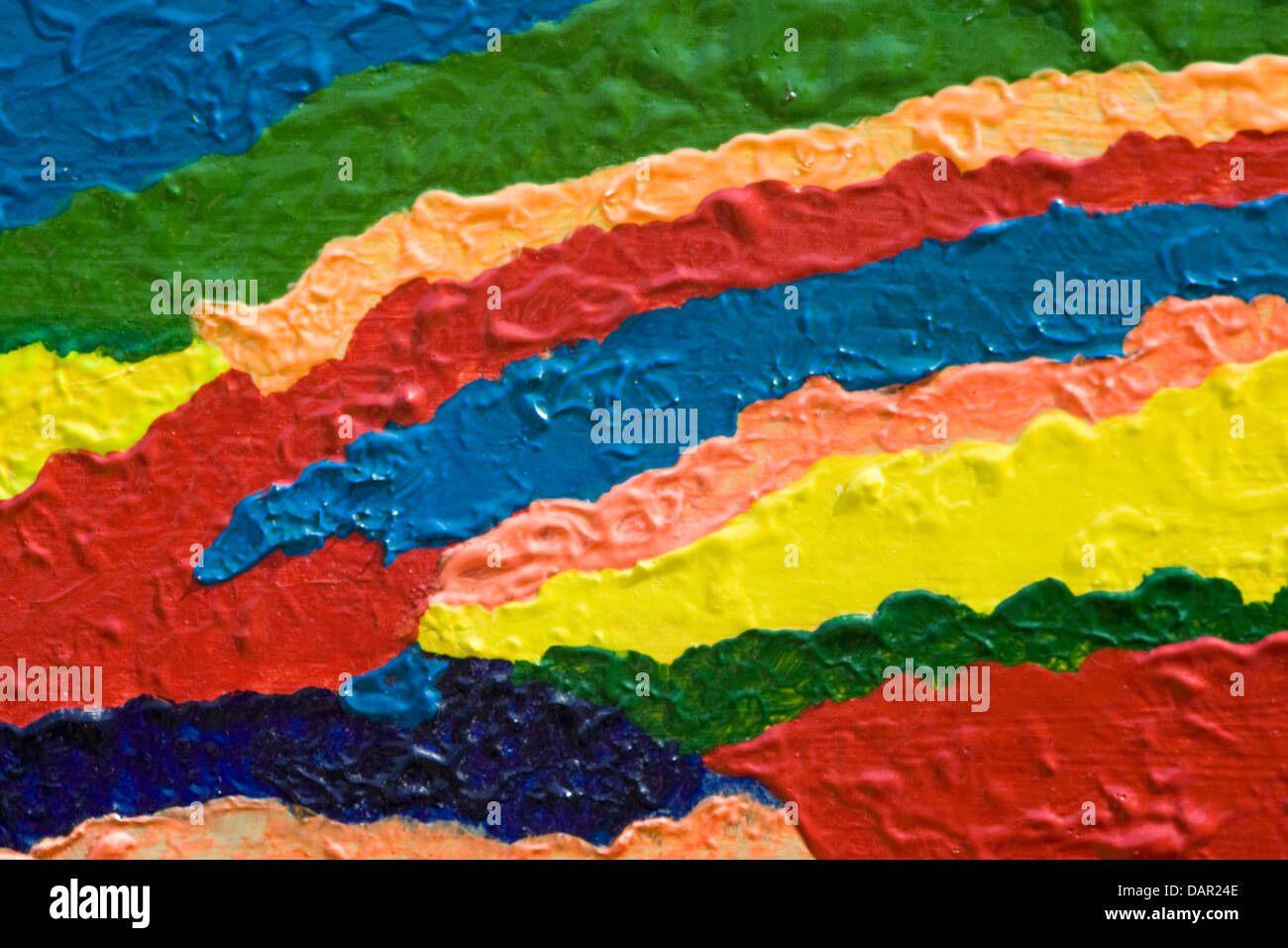Travaux d'art abstrait aux couleurs vives Photo Stock