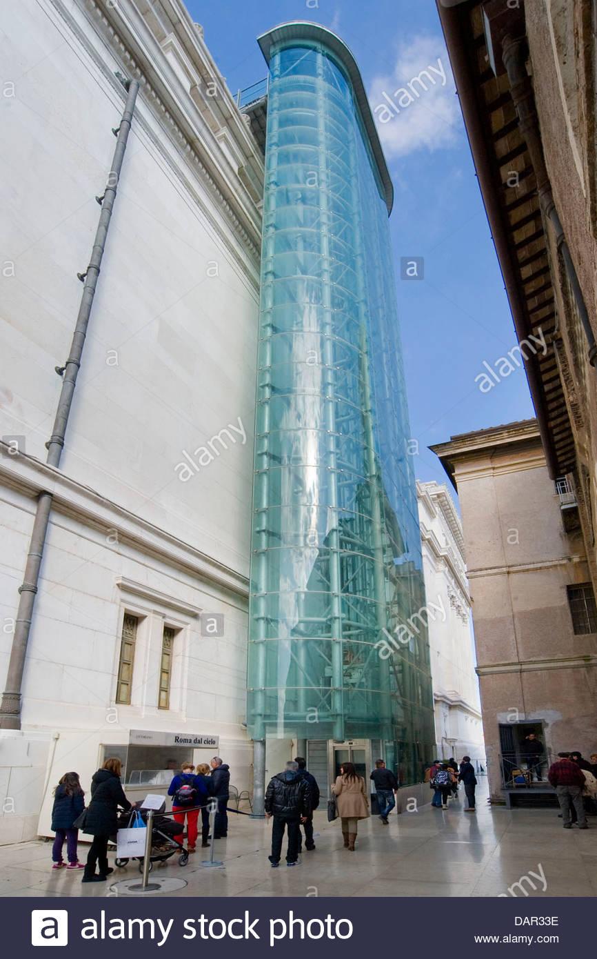 Ascenseur,vittoriano Rome,Italie,lazio, Photo Stock