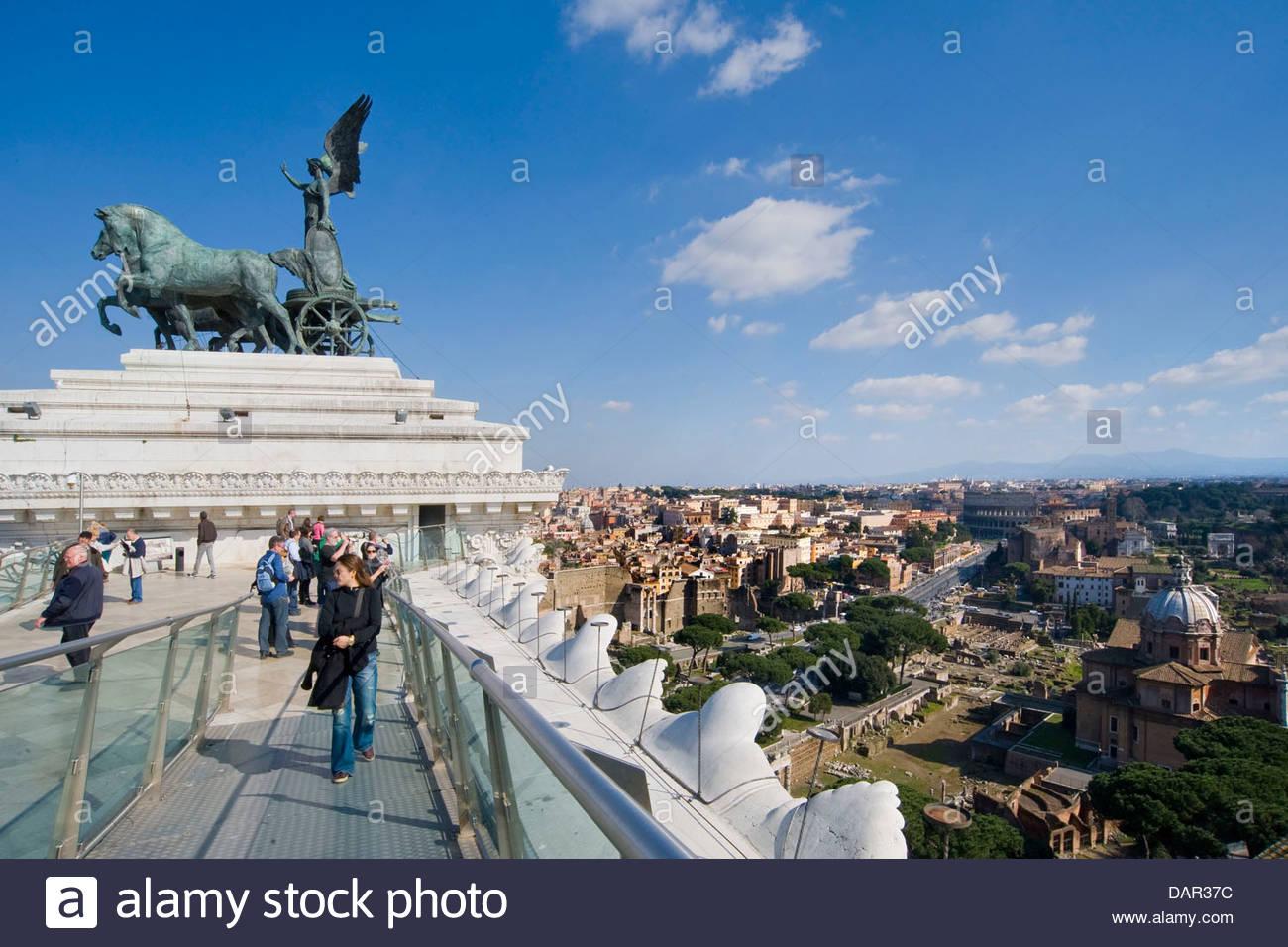 Terrasse de vittoriano,Rome,Italie,Latium Photo Stock