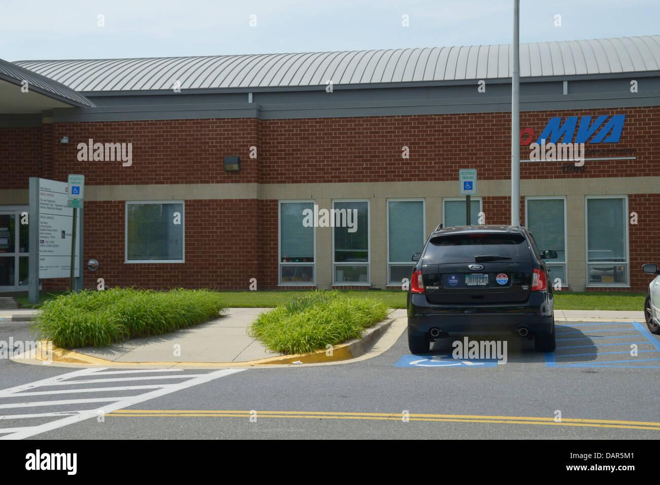 Le département des véhicules à moteur dans Beltsville, Maryland Photo Stock