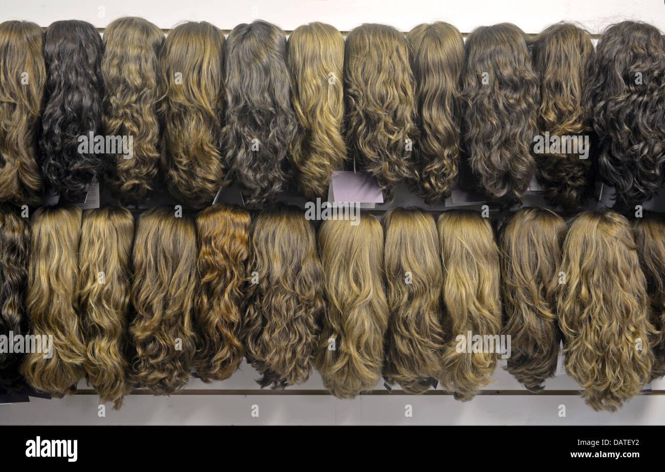 Le showroom de perruques Freeda une usine à Crown Heights, Brooklyn, NY, fréquenté par les femmes Photo Stock