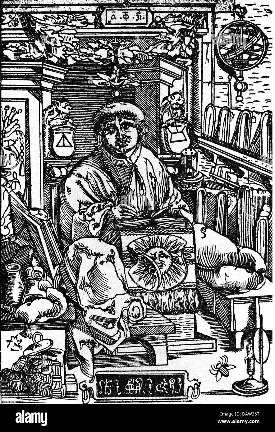 Skaryna, Franciscus, 6.3.1486 - Mai 1541, médecin bélarussien, travailleur de l'imprimerie, éditeur, pleine longueur, Banque D'Images