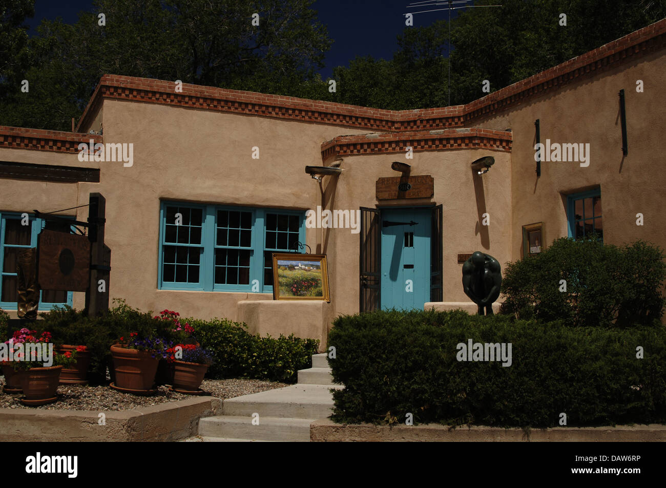 United States. Santa Fe. Art Gallery à Canyon Road. État de New Mexico. Photo Stock