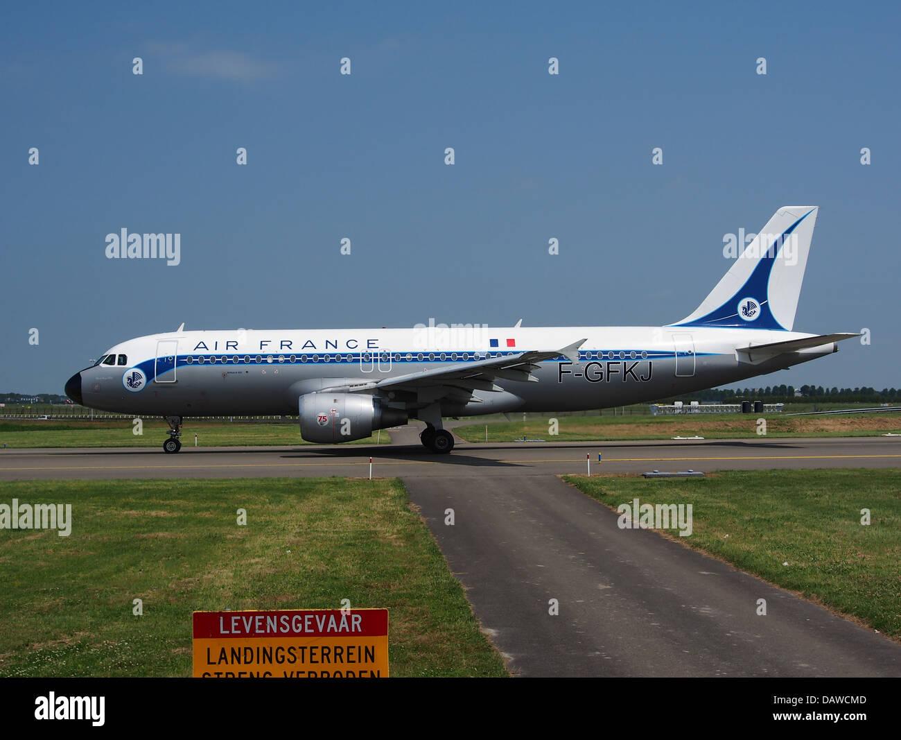 F-GFKJ Air France Airbus A320-211 - cn 063 - 4 Photo Stock