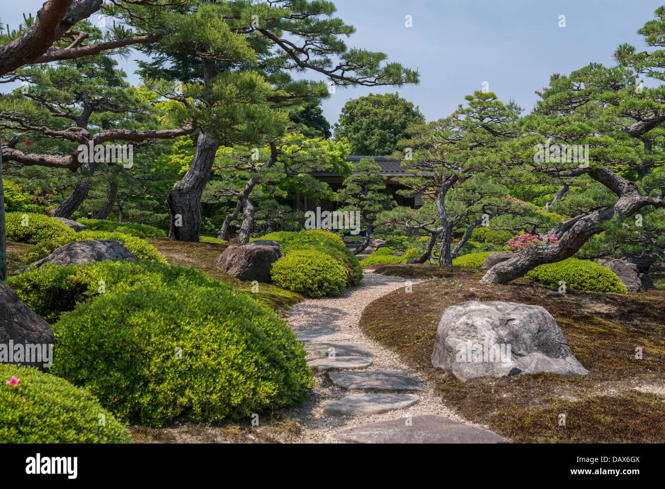 Jardin Japonais Yuushien Ville Matsue Japon Banque D Images Photo