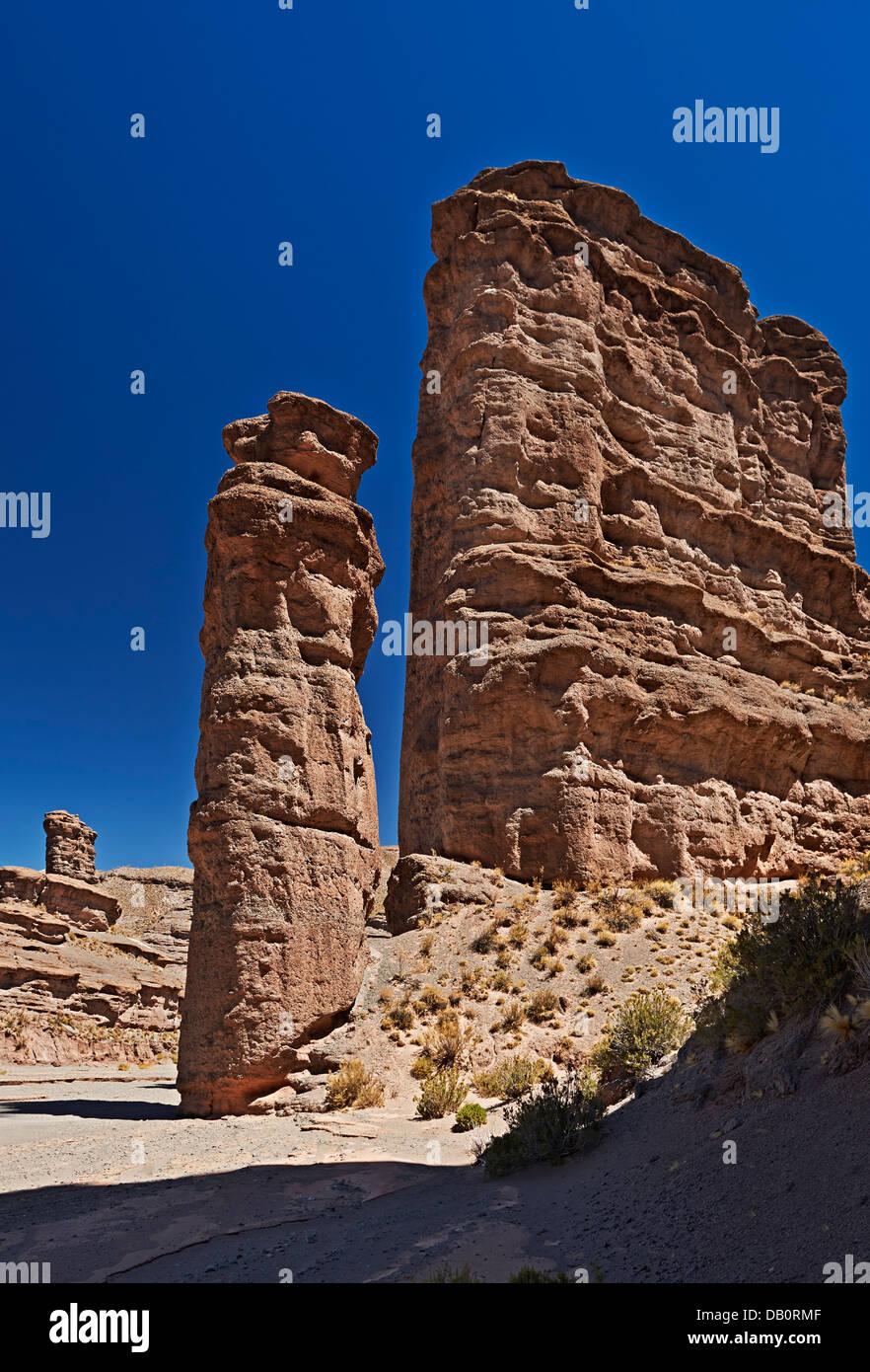 L'érosion spectaculaire paysage près de San Antonio de Lipez, Andes, Bolivie, Amérique du Sud Photo Stock
