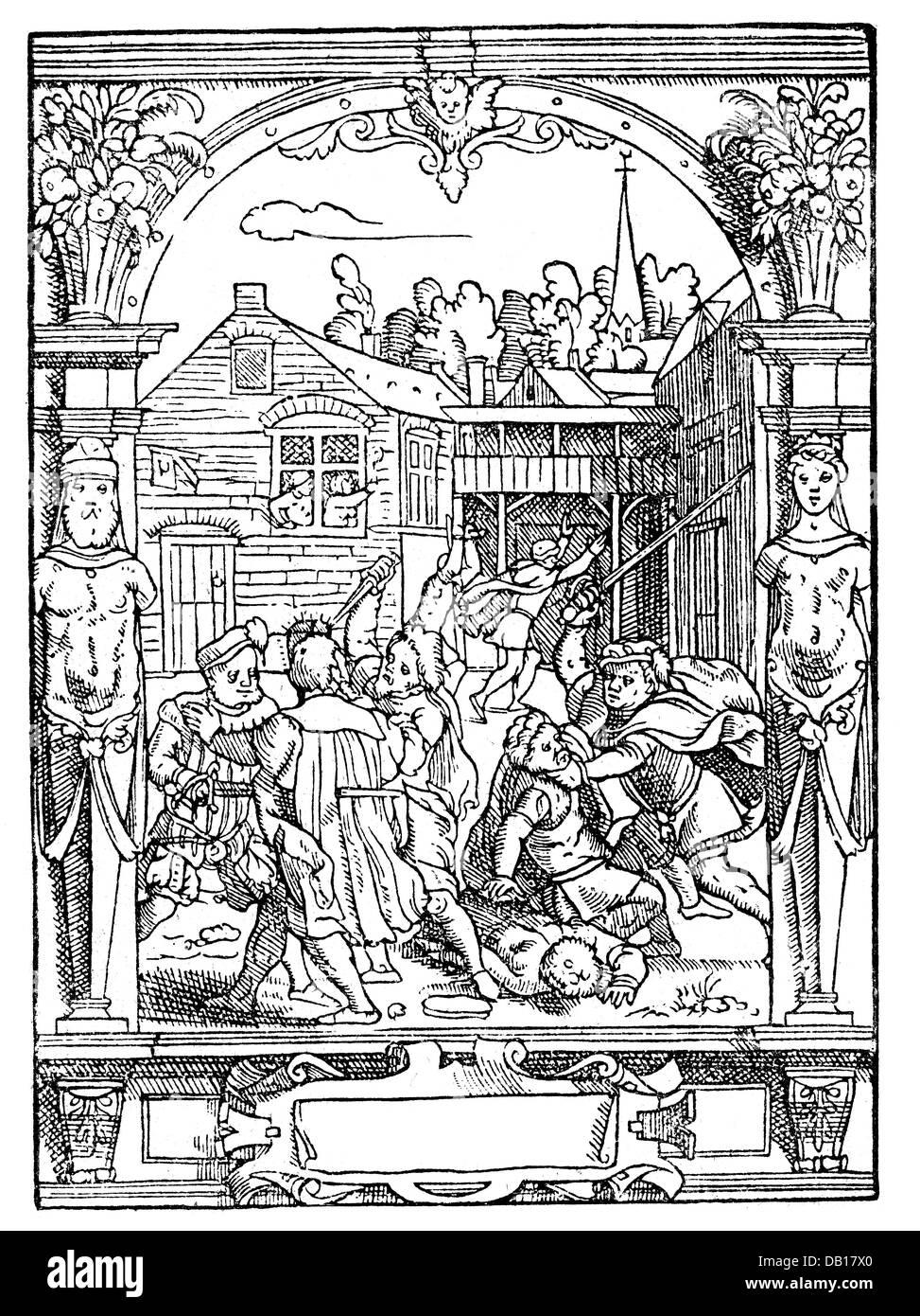 La Révolte des confréries à Valence 1520 - 1521, l'artiste n'a pas d'auteur pour être effacé Banque D'Images