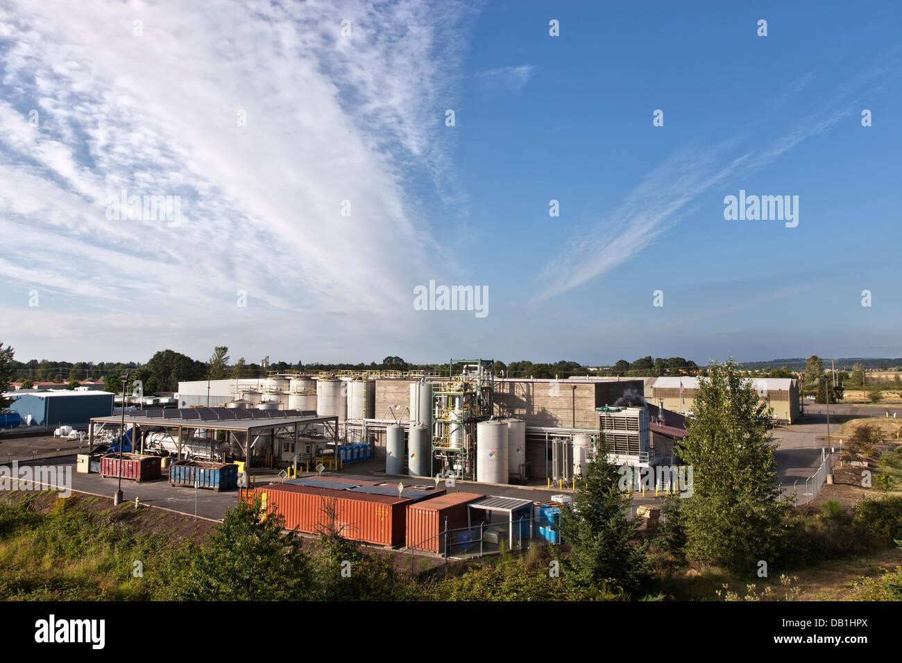 Installation de production de biocarburants. Photo Stock