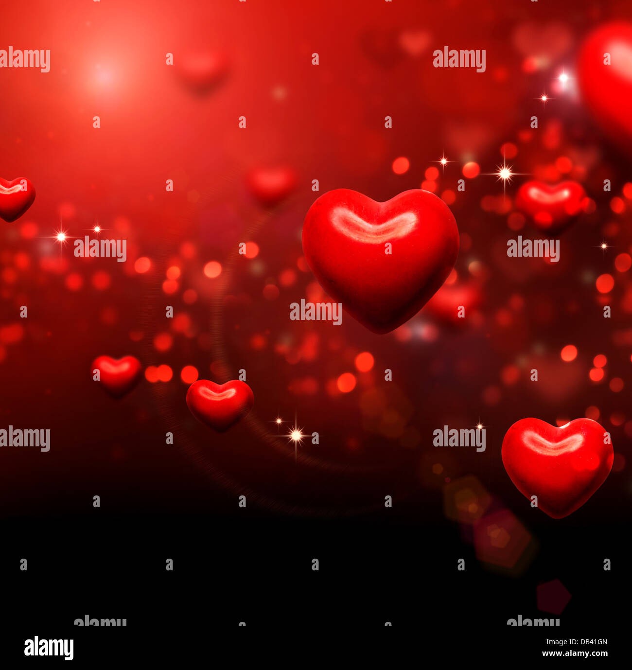 Valentine Hearts. Valentines Red Abstract Wallpaper Photo Stock