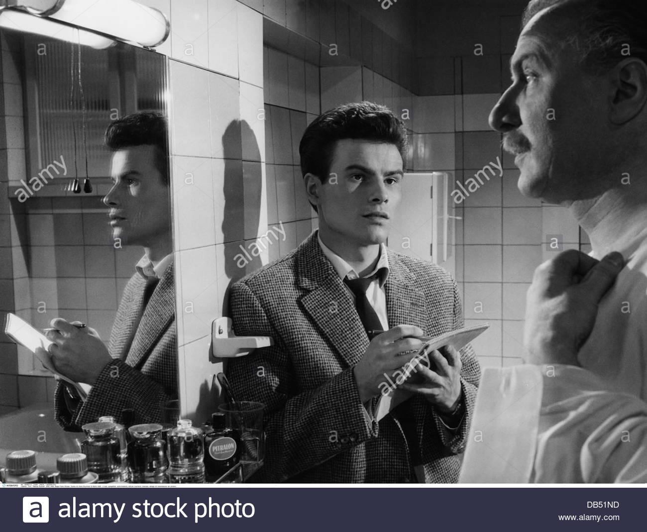 Film, 'asphalte humide', DEU, 1958 Réalisateur: Frank Wisbar, scène avec: Horst Buchholz, Photo Stock