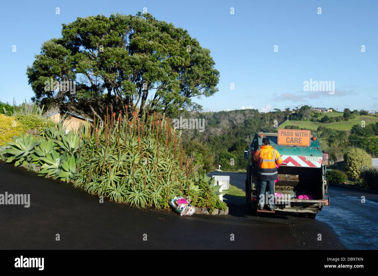 Travailleur de la gestion des déchets Photo Stock