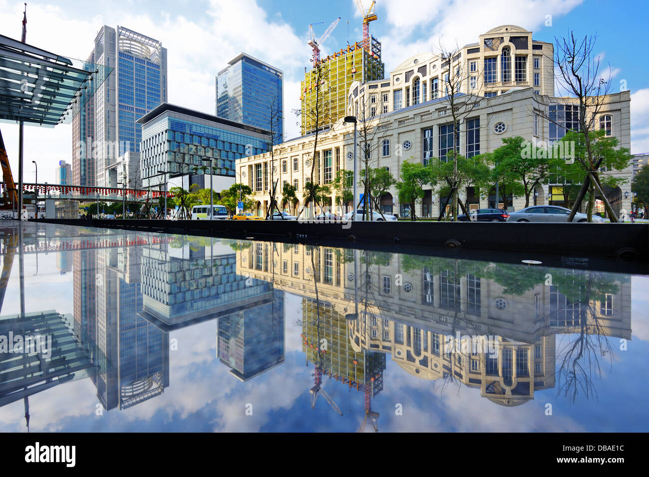 Taiwan, Taipei cityscape au Xinyi District. Photo Stock
