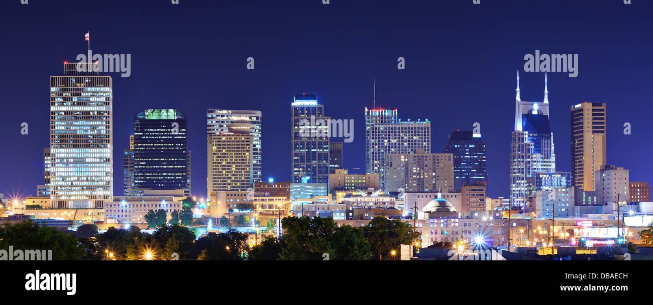Toits de centre-ville de Nashville, Tennessee, USA. Photo Stock