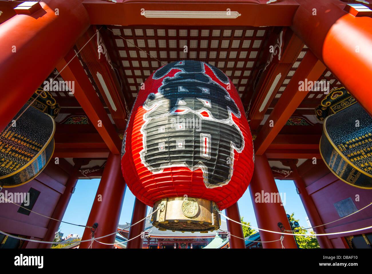 Lanterne géante de Senso-ji à Asakusa, Tokyo. Photo Stock