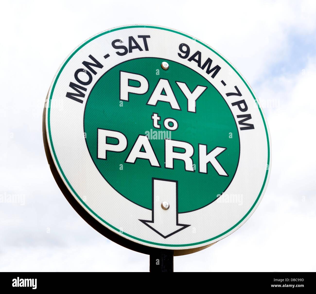Inscrivez-vous pour payer le stationnement dans le centre-ville de Boulder, Colorado, USA Photo Stock