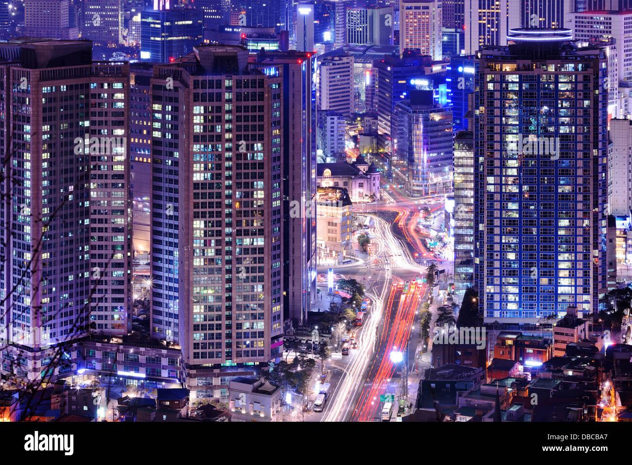 Paysage urbain de Séoul, Corée du Sud. Photo Stock