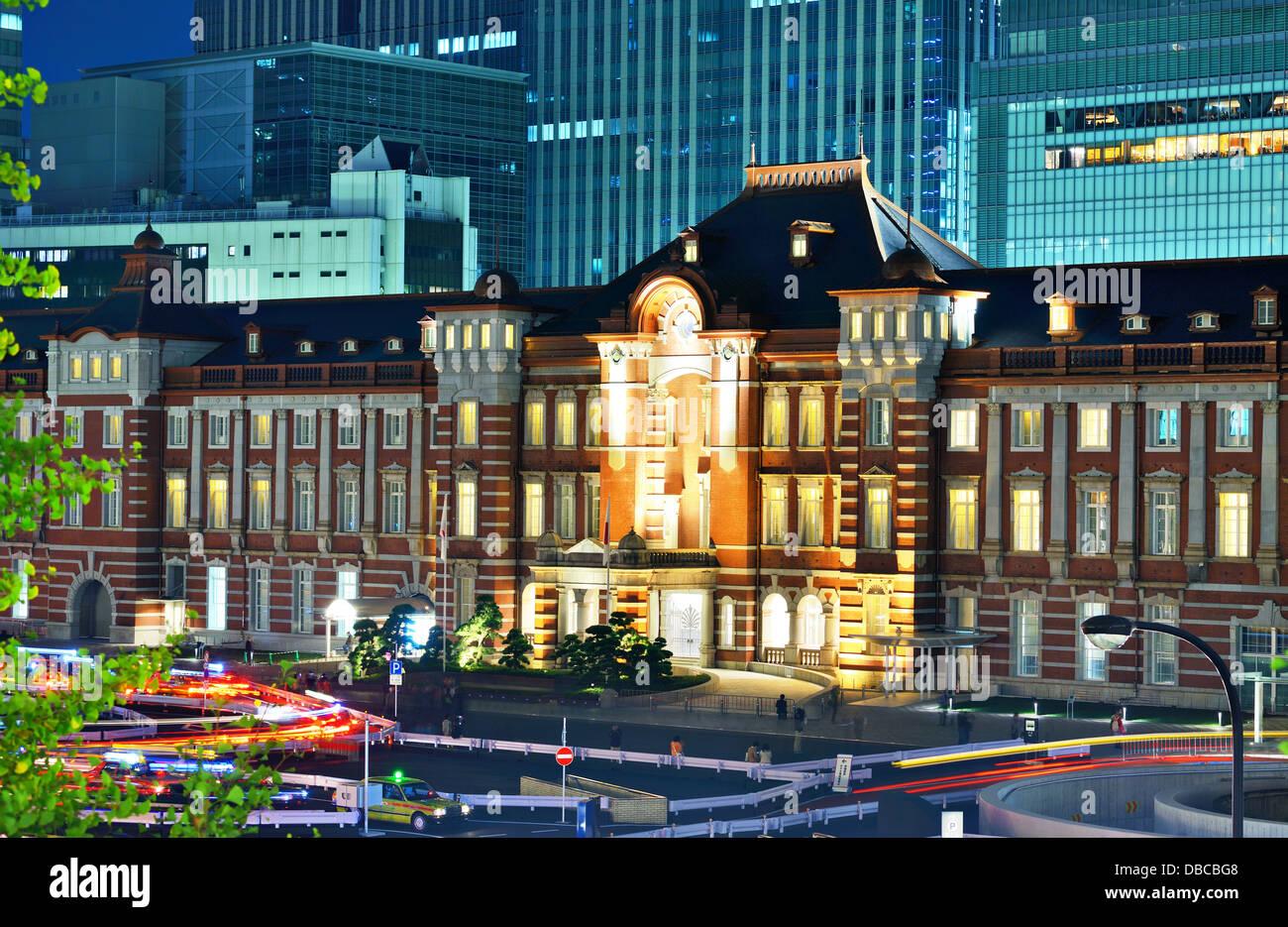 La gare de Tokyo à Tokyo, Japon. Photo Stock