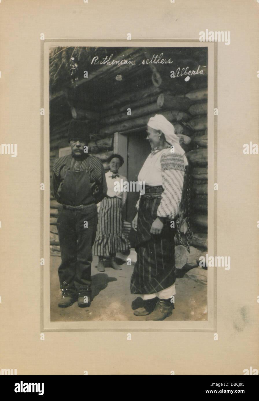 Les colons ruthène, Alberta (HS85-10-23670) Banque D'Images