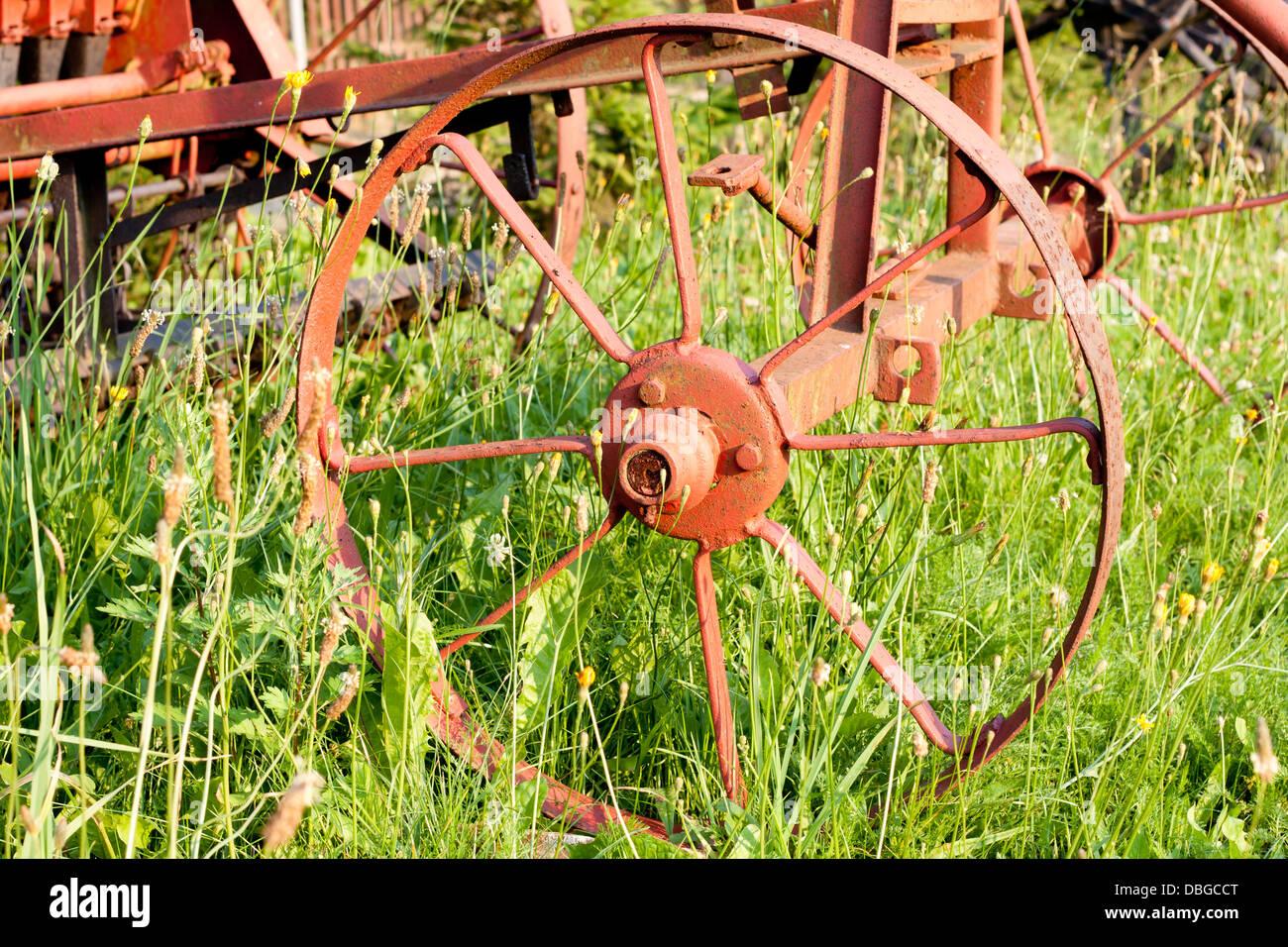 Vieille machines agricoles technologie dépassée concept Photo Stock