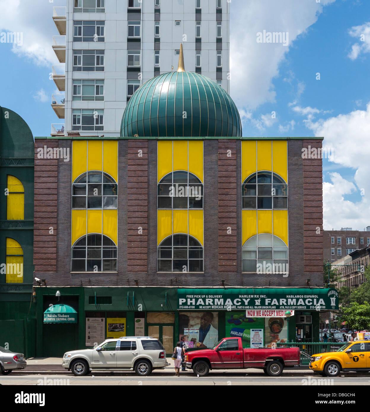 Numéro 7 de la mosquée à Harlem, NEW YORK - où Malcolm X prêché Banque D'Images