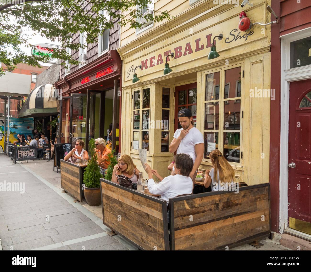 Cafés à Williamsburg, Brooklyn, New York City, USA Photo Stock