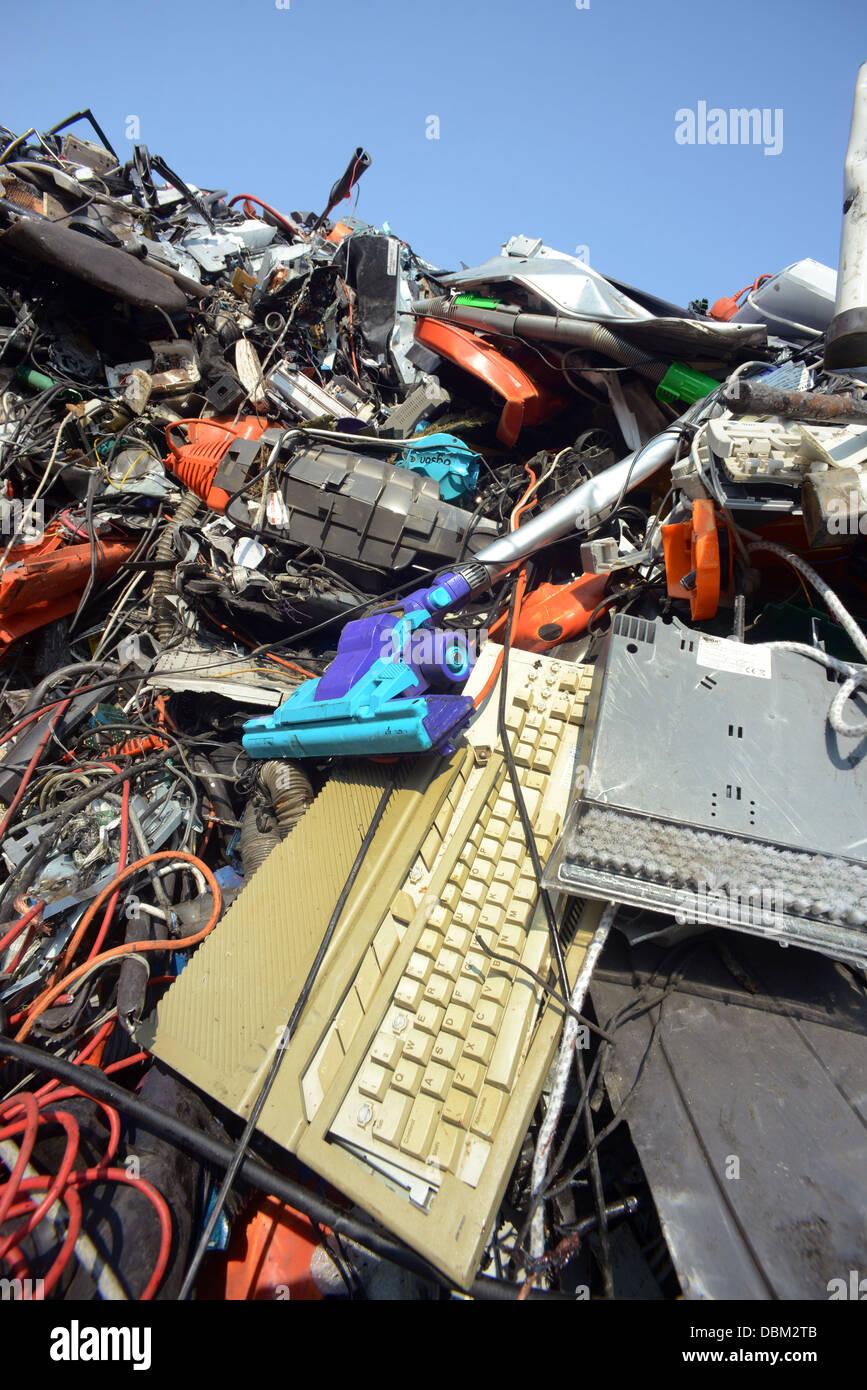 L'élimination des DEEE Déchets d'équipements électriques et électroniques united Photo Stock