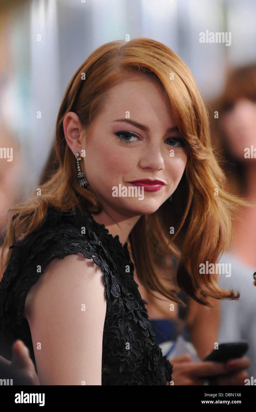 Emma Stone Première mondiale de 'Crazy, Stupid, Love' tenu à la Ziegfeld Theatre - Arrivées Photo Stock