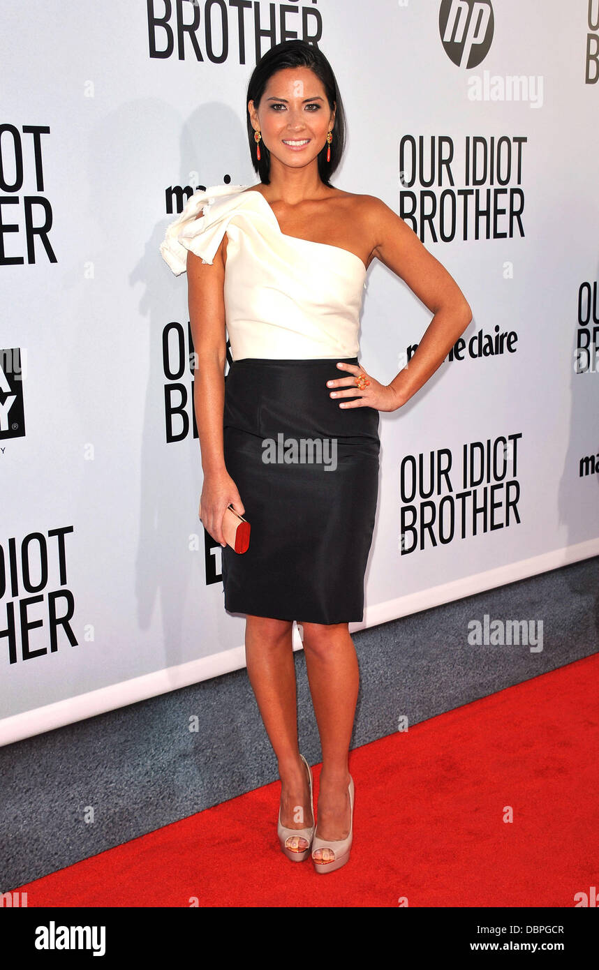 "Olivia Munn ""notre frère Idiot' - Los Angeles Premiere tenue au Cinerama Dome d'Hollywood, Californie Photo Stock"