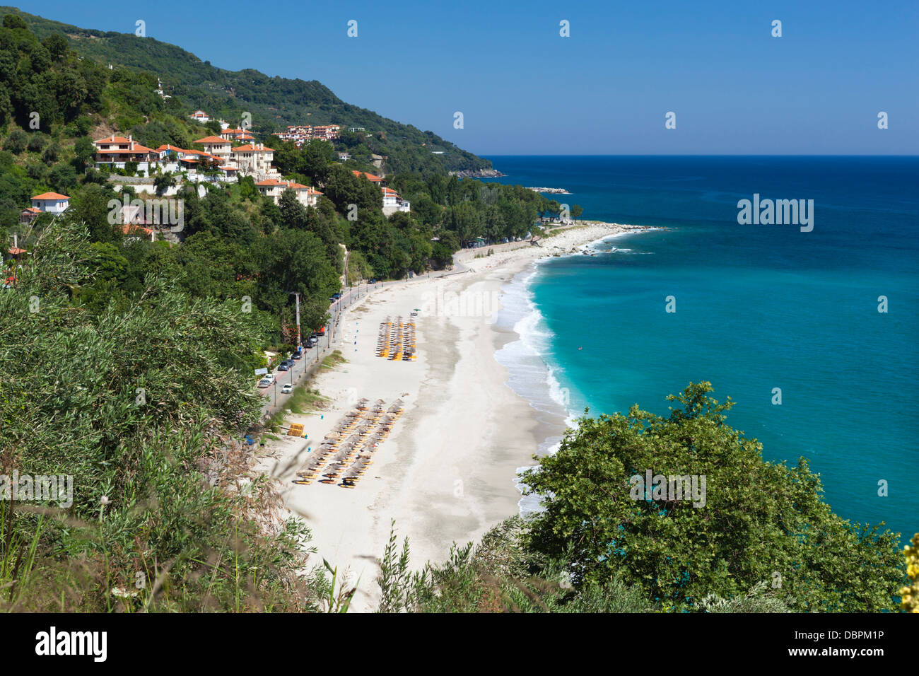 Plage de Papa Nero, Agios Ioannis, Pelion, Thessalie, Grèce, Europe Photo Stock