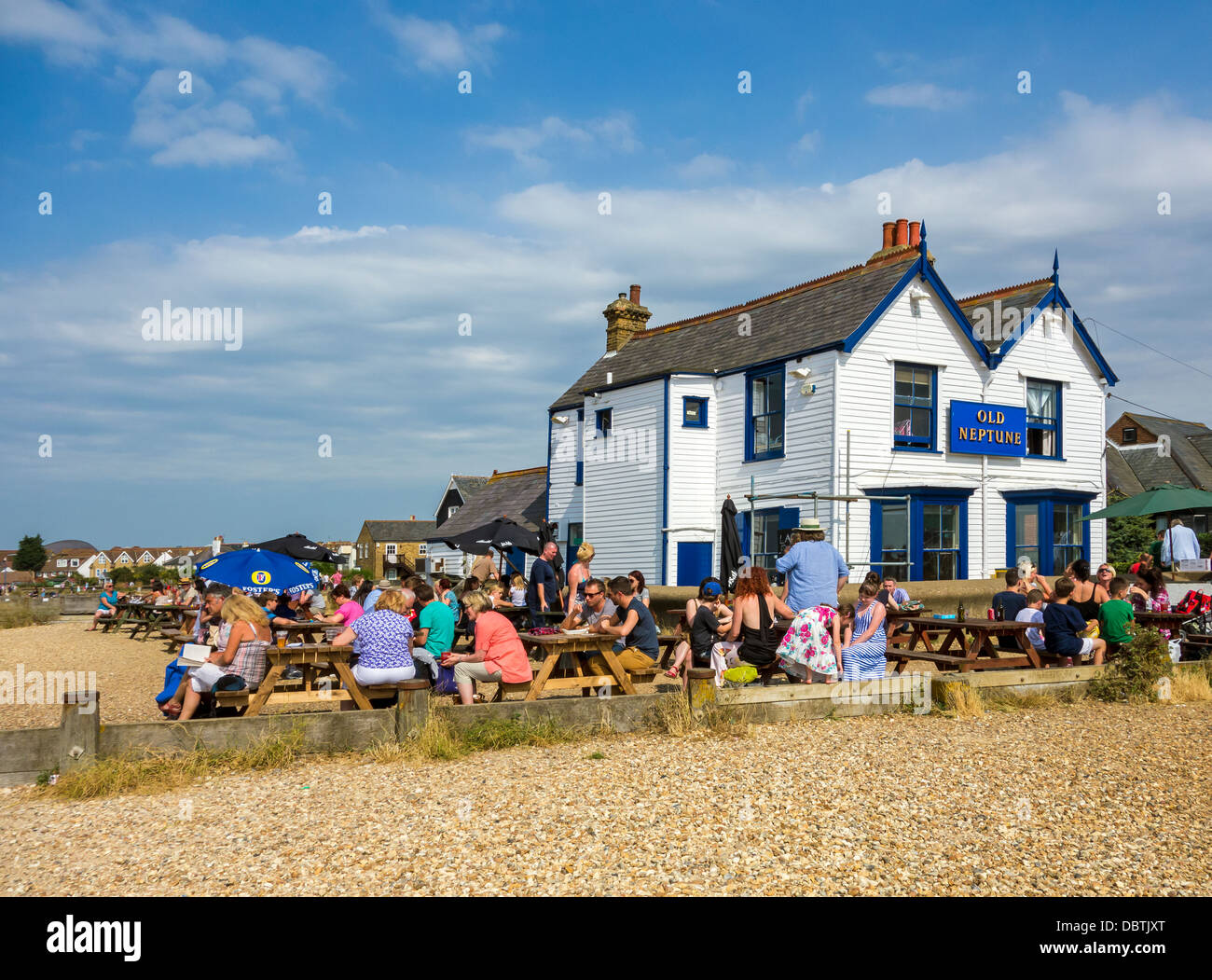 L'ancien pub sur la plage Neptune Whitstable Kent Photo Stock